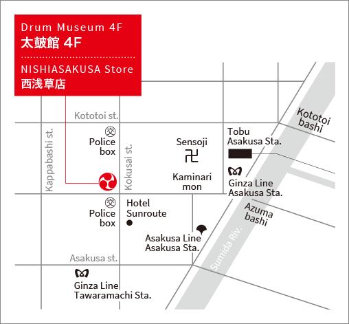 太鼓館の地図